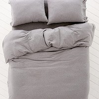 Heather Grey Jersey Duvet Cover - Urban Outfitters