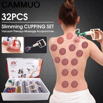CAMMUO 12pc Medical Cup Kit Chinese Health Care Vacuum Slimming Body Cupping Set Massage Therapy Relaxation Healthy Acupuncture