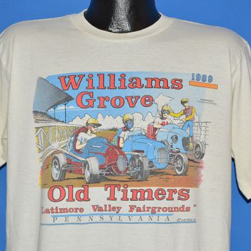 80s Williams Grove PA Old Timers 1989 t-shirt Extra Large