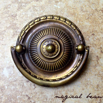 Round Hepplewhite Dresser Pulls Rustic Home Decor Rustic Country Decor Furniture Pulls Big Round Dresser Pulls Vintage Brass Drawer Pulls