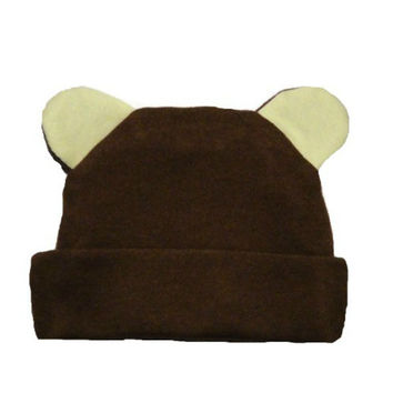 Baby Boys' Brown Bear Hat with Ears!