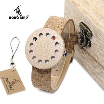BOBO BIRD WC12 12holes Brand Design Wood Watches Mens Watch Top Luxury For Women Real Leather Straps as Best Gifts