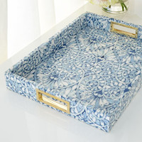 AERIN Printed Floral Tray