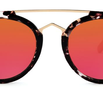 Rose Marble Sunglasses in Red