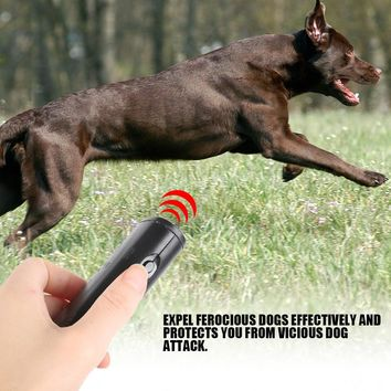 3 in 1 Anti Barking Stop Bark Device Portable Handheld Ultrasonic Pet Dog Repeller Control Training Device Trainer With LED