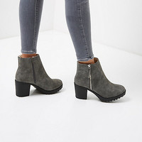 Grey side zip ankle boot - boots - shoes / boots - women