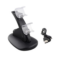 Dual USB Charge Dock Stand for Sony Play station 4 PS4 Charger