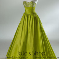 Green Strapless Ball Gown Formal Prom Dress HB2030A