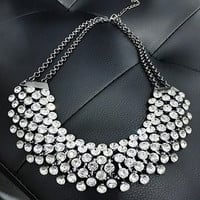 Collier Femme Trendy Crystal Statement Necklaces Pendants Women Fine Jewelry Multi layer Link Chain Necklace Bijoux Colares-03130