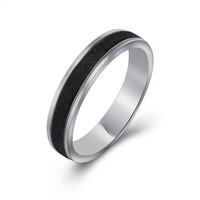 Personalized small exquisite black matte ring Titanium steel jewelry SA482