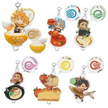Takara Tomy Haikyuu!! Tsunagaru Food Mascot Part 1 Set of 6