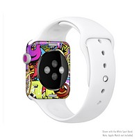 The Vibrant Colored Vector Graffiti Full-Body Skin Set for the Apple Watch
