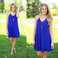 Double Trouble Dress in Royal Blue