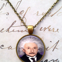 Einstein Necklace, Science, Pendant, Geek, Big Bang Theory, Universe, Space T744