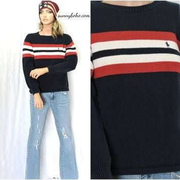 Vintage Polo Ralph Lauren sweater M red white blue ralph lauren pullover sweater thick