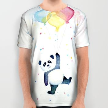 Panda All Over Print Shirt by Olechka