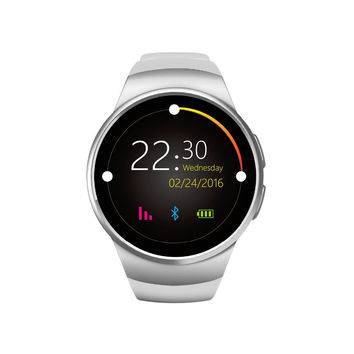 KW18  2016 NEW   Style  Full Round IPS Heart Rate Smart Watch MTK2502 BT4.0 Smartwatch for ios and Android  Intelligent Watch