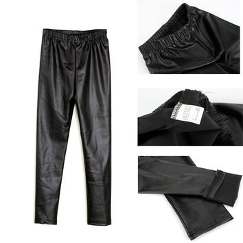 City Glam Faux Leather Leggings