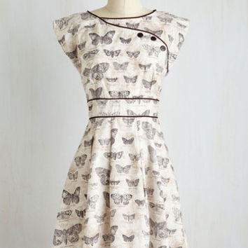 Critters Mid-length Sleeveless Fit & Flare Topiary Tour Dress in Butterflies