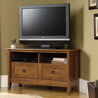 T.V.stand Corner Entertainment Console Furniture Media Wood Center Cabinet NEW