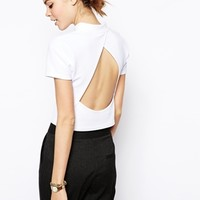ASOS Top with Open Back & High Neck