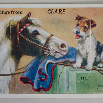 Vintage Post Card Clare South Australia