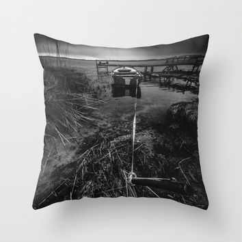 On the wrong side of the lake 16 Throw Pillow by HappyMelvin