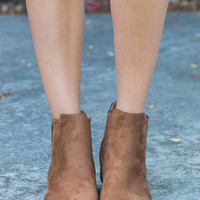 Traveling Fun Booties, Camel