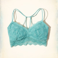 Girls Gilly Hicks Removable Pads Strappy Back Lace Bralette | Girls Intimates & Sleep | HollisterCo.com
