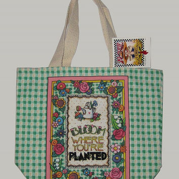 Mary Engelbreit Mini Bloom Where You Are Planted tote-MT8M