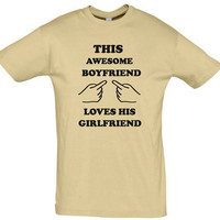 This awesome boyfriend loves his girlfriend,humor shirt,humor tees,gift for boyfriend,gift ideas,birthday gift,boyfriend shirt,awesome shirt