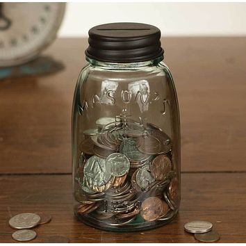 Midget Mason Jar Coin Bank