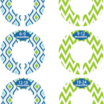 Custom Baby Closet Dividers Boy Navy Blue and Green Nursery Closet Dividers Baby Shower Gift Baby Clothes Organizers Baby Nursery Organizer