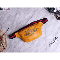 GUCCI GRAFFITI MOTTO LEATHER POCKET BAG