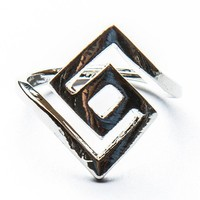 Silver Labyrinth Ring