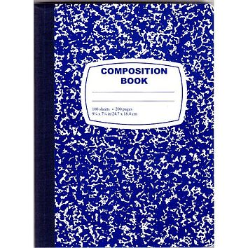 Blue Composition Notebook - 100 Sheets - 48 Units