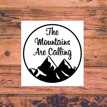 Camping Decal | Adventure Decal | Adventure Arrow Decal | Adventurous Decal | The Mountains Are Calling | Adventure Awaits | Wanderlust |364