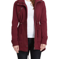 LE3NO Womens Long Sleeve Fleece Parka Coat Jacket with Pockets