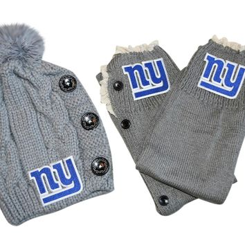 NY Giants Leg Warmers /Beanie