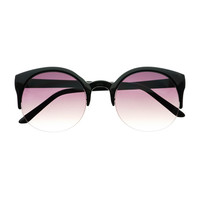 Cute Womens Retro Vintage Style Half Frame Round Sunglasses R2330