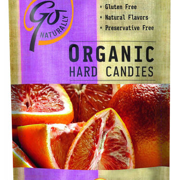 Go Organic Hard Candy - Blood Orange - 3.5 oz - Case of 6