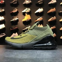 Nike Air Max 270 AO1023 003 27C Green Yellow Black Sport Running Shoes - Best Online Sale