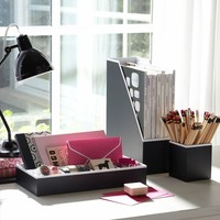Printed Desk Accessories - Solid Black