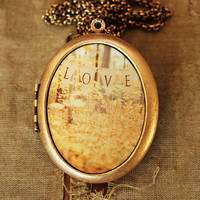 All Is Love  Romantic Love Photo Locket by HeartworksByLori