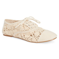 Charles Albert Womens Charles Albert Crocheted Oxford Shoes
