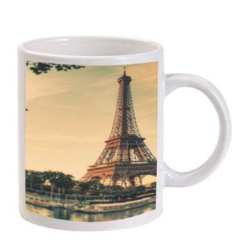 Gift Mugs | Sunset With Eiffel Tower Ceramic Coffee Mugs