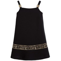 Versace Girls Dark Gold-Studded Dress