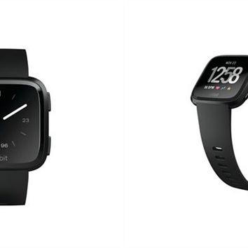 Fitbit Versa Smartwatch - Black Aluminum Case and Black Classic Band by Fitbit | Fitness Trackers Gifts | chapters.indigo.ca