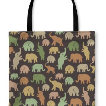 Tote Bag, Pattern With Elephants Can Be Used For Textile Website Book Cover Packaging
