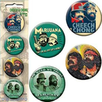 Cheech And Chong Four Button Pin Set